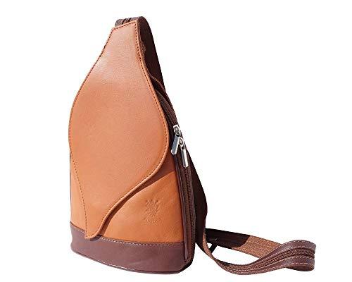 Avec À D'arbre 2060 Gm marron Feuille Dos Sac Market Clair Mode Foglia Marron Florence Leather Sacs Ouverture qwt400
