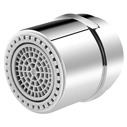 Brass Dual Aerator - Dual-Thread Kitchen Sink Faucet Aerator, Tap Aerator Sprayer for Bathroom Faucet, Water Saving Flow, 1.2/1.8 GMP, Brass 15/16 Inch Male Thread