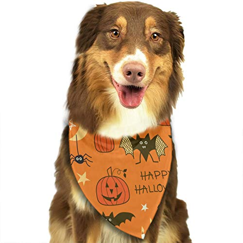 TLDRZD Happy Halloween Party Patterns Dog Bandana - Small Medium and Large Bandanas for Every Occasion Or Holiday - Easy to Tie On Your Cats Or Dogs - Comfortable and Stylish Pet Accessories ()