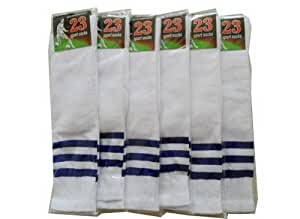 Set of 6 Cheerleading Crew Socks Knee Socks Womens Sports Socks White