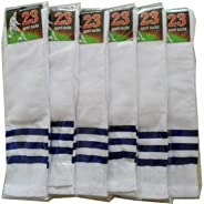 Set of 6 Cheerleading Crew Socks Knee Socks Womens Sports Socks White
