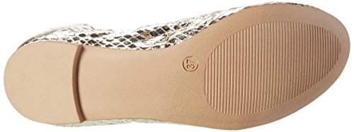 Buffalo Shoes C035c-23 E0015c Snake PU, Bailarinas Para Mujer Dorado (GOLD 24)