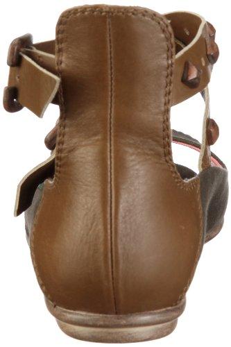 Fornarina CAROLE PEFEO7739WV00 - Sandalias de vestir de lona para mujer Verde