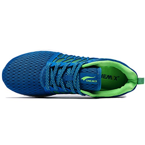YiDiar Breathable Männer Athletic Trail Laufschuhe Outdoor Walking Jogging Training Sport Turnschuhe Blau Grün