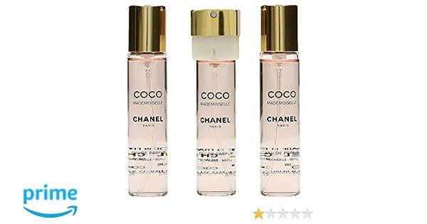 Chanel Coco Mademoiselle Agua de perfume Vaporizador 3X20 Refill: Amazon.es: Belleza