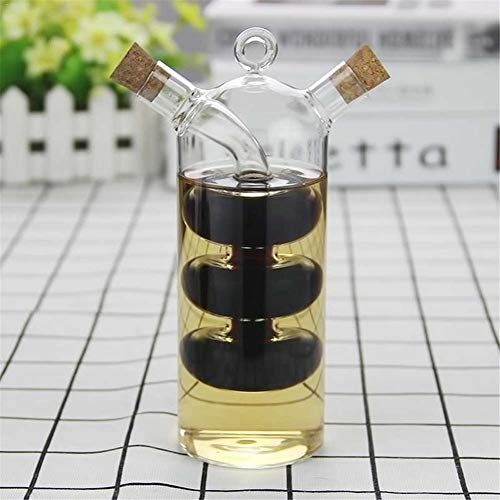 Innovative Dual Glass Oil Storage Bottle Thermal Resistance Oil Dispenser Durable Shock-proof Vinegar Bottles Kangsanli