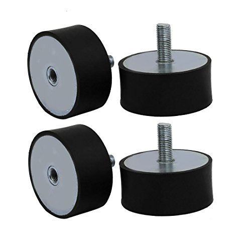 uxcell 100mmx45mm M16 Male Thread Rubber Shock Absorber Vibration Isolator Mount 4pcs by uxcell