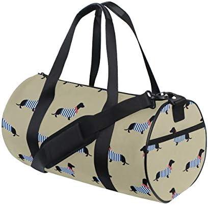 ボストンバッグ カラフルな縞模様の犬 ジムバッグ ガーメントバッグ メンズ 大容量 防水 バッグ ビジネス コンパクト スーツバッグ ダッフルバッグ 出張 旅行 キャリーオンバッグ 2WAY 男女兼用