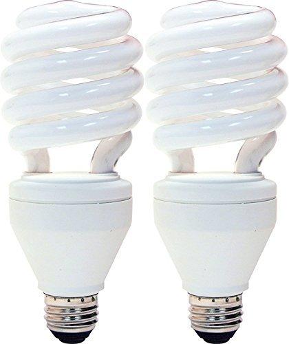 3 Way Cfl Bulbs - GE Energy Smart CFL 3-way 16/25/32-Watt; 600/1600/2150-Lumen, T3 Spiral Medium Base, (2 Pack)