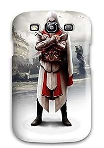 New Premium Flip Case Cover Ezio In Assassin's Creed Brotherhood Skin Case For Galaxy S3