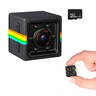 Veroyi Mini Hidden Camera, 1080P Home Security Nanny Cam Portable Surveillance Camera for Indoor Outdoor, 32GB Memory Card Included