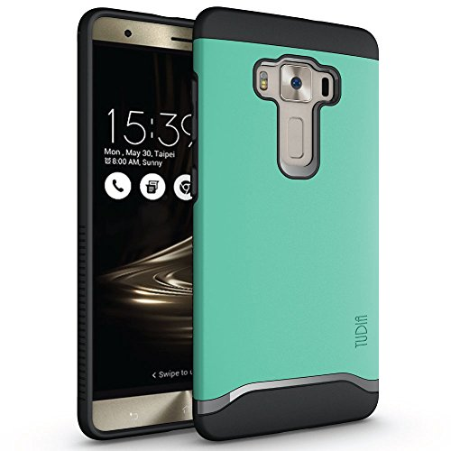 ZenFone 3 Deluxe ZS570KL Case, TUDIA Slim-Fit Merge Dual Layer Protective Case for ASUS ZenFone 3 Deluxe (ZS570KL) (Mint) ()