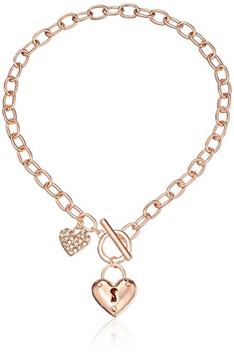 Guess Heart Charm Toggle Bracelet