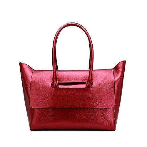 Sheli Designer Handbags Large Shoulder Bags for Women Multiple Top Zipper Pockets Red - Perry Kate Costume