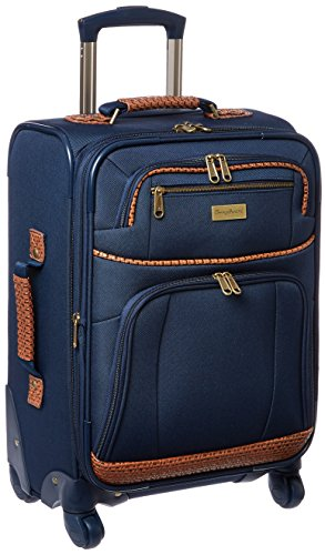 Tommy Bahama Carry On Luggage - 20 Inch Lightweight Expandable Rolling Spinner Luggage with Wheels Travel Suitcase, Navy (Tommy Tall Big And Clearance Bahama)