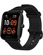 Amazfit BIP U PRO Smart watch with 1.43 inches LCD Display, Built-In GPS, 3GB Music Storage, 9-Day Battery Life, 60 Sports Modes, Health Tracking, Female cycle tracking, Water Resistant, Black