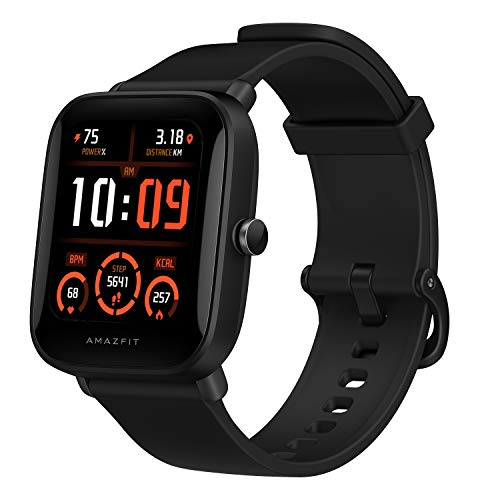 Amazfit Bip U Pro Smart Watch Sports Watch with Bulit-in Alexa and GPS,Electronic Compass, 60+ Sports Modes, 5 ATM, Fitness Tracker with SpO2, HR,Sleep,Stress Monitor, 1.43″ Color Touch Screen (Black)