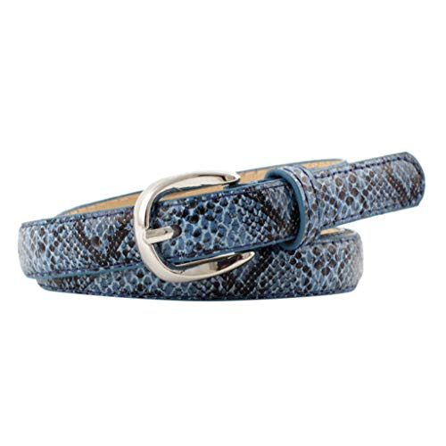 - Leather Belts for Women Thin Lightweight for Jeans,Creative Alligator Snakeskin Embossed Good Gift for Friend