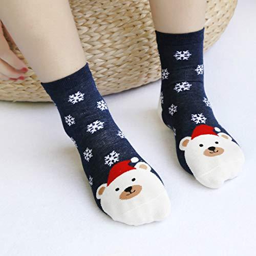 Pollyhb Christmas Socks,Women&Men Socks Gilrs&Boys Socks Christmas Cartoon Fox Bear Santa Claus Rabbit Socks Cute Unisex Socks (Best Funko Rabbit Dvds)