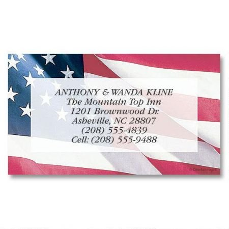 American Glory Business Cards - Set of 250 2'' x 3-1/2 custom business card design; 80# Cover Stock, Opaque, Matte
