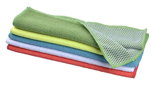 718c961223f83 Sinland 5 color Assorted Microfiber Dish Cloth Best Kitchen Cloths Cleaning  Cloths With Poly Scour Side