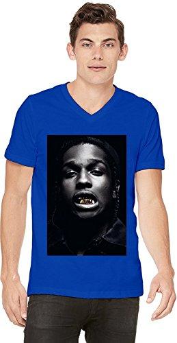 hombre Rocky cuello Asap azul en Hip para camiseta con Hop Rapper v 4Xxdwfq