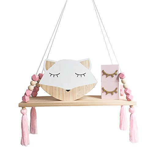 Shuohu Nordic Display Wall Hanging Shelf Swing Rope Floating Shelves Home Decor
