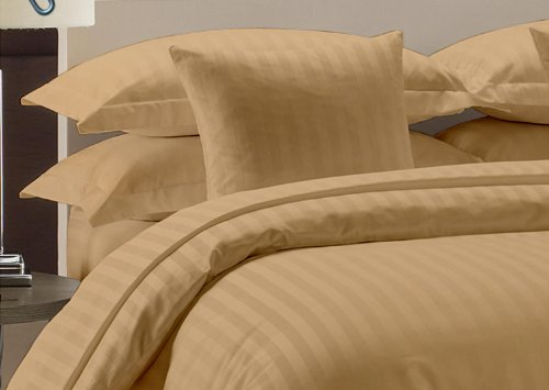 Royal Beddings 800TC Unattached Waterbed Sheet Set 100% Egyptian Cotton King Size Damask Stripe