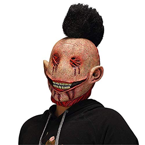 Waltz&F Halloween Horror Cosplay The Evil Bloody Big Slit Mouth Dead Punk Clown Mask -