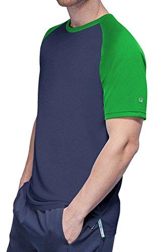 - Fila Men's Club Raglan Crew Tennis Shirt, Peacoat, Online Lime, S
