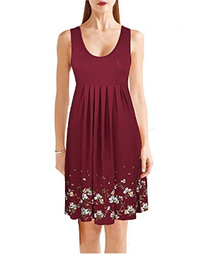 Ineffable Summer Pleated Sleeveless Dresses