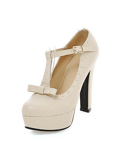 GGX/Damen Schuhe Patent Leder Herbst/, Round Toe Heels Office & Karriere/Casual Stiletto-Absatz bowknotblack Pink/ black-us7.5 / eu38 / uk5.5 / cn38