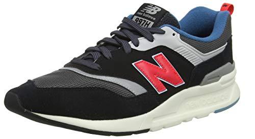 New Balance Men's 997H V1 Sneaker, Magnet/Energy RED, 8.5 D US