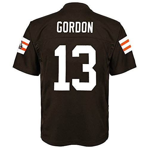 Outerstuff Josh Gordon NFL Cleveland Browns Mid Tier Replica Home Brown Jersey Boys (4-7)