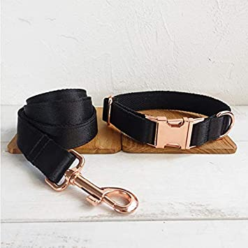 Tuta di Trazione in Tessuto Collare per Cane con Fibbia in Metallo S WSLDDD Collare per Cani con Motivo in Tessuto Nero