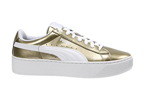 Pltaform Sneakers Giallo Donna Metallic Puma Vikky Pelle qw178qEz