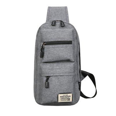 17 respirable poliester gray la capacidad del bolso desgaste del del de pecho viaje de tela la que 7 30 de el Bolso del señora Bolso pecho la grande monta gray mensajero masculina 7A0w6