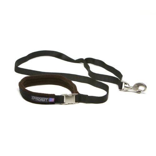 "Spindrift 562 Super Strong Cozy Lead Dog Leash- (3/4"" x 4ft), Black"