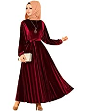 فستان كاجوال - لون احمر نبيذي - مقاس اكس لارج - نساء