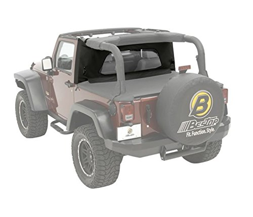 (Bestop 80035-35 Black Diamond Wraparound Windjammer Wind Break for 2003-2006 Wrangler TJ Including Unlimited)