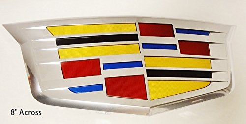 CADILLAC NEW STYLE CT6 CHROME GRILLE CREST EMBLEM 2016 2017 SUPER RARE