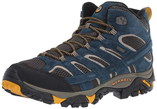 Merrell Men's Moab 2 MID Waterproof Hiking Shoe, Olive Blue, 12.0 M US