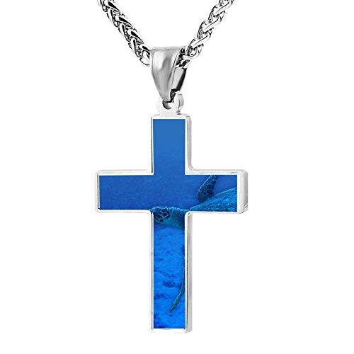 (Gjghsj2 Cross Necklace Pendant Religious Jewelry Scuba For Men Wome )