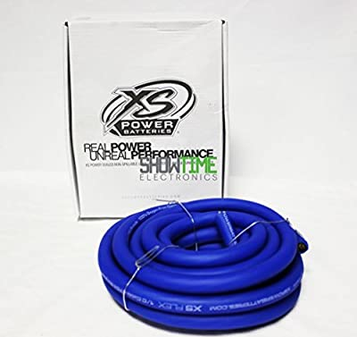 XS Power XS-FLEX TRUE OFC Blue 1/0 AWG Gauge 20' Power/Ground Cable/Wire Package