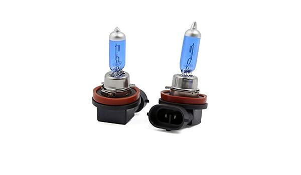 Amazon.com: eDealMax 2 piezas de H11 100W halógena Luz Blanca estupenda de la linterna del coche del bulbo de lámpara de la niebla: Automotive