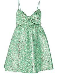 Alice + Olivia Women's Melvina Tie Front Gathered Babydoll Dress