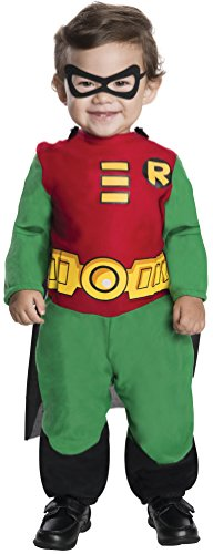 Cute Ideas For Infant Halloween Costumes (Rubie's Costume Co Teen Titans Robin Jumpsuit, Green/Red/Black, Infant 6 - 12 Months)