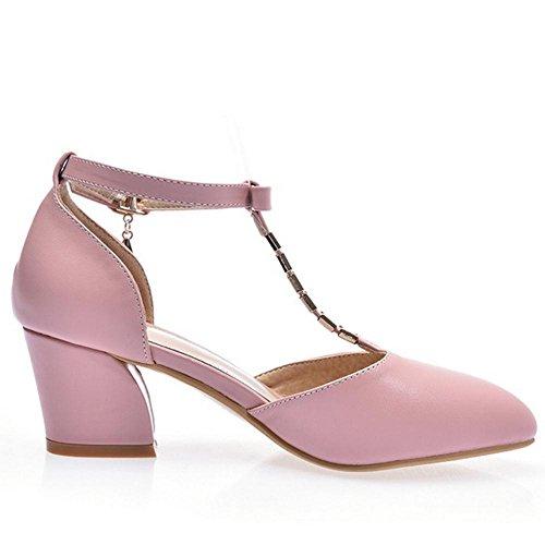 Pink JOJONUNU Femmes Sandales Talons Mode Bloc U0WzYq