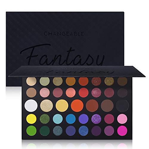 39 Colors Eyeshadow Palette Fantasy Matte Shimmer Makeup Pigmented Eye Shadow Natural Smooth Long Lasting Waterproof Cosmetics (Palette 40 Color Eyeshadow)