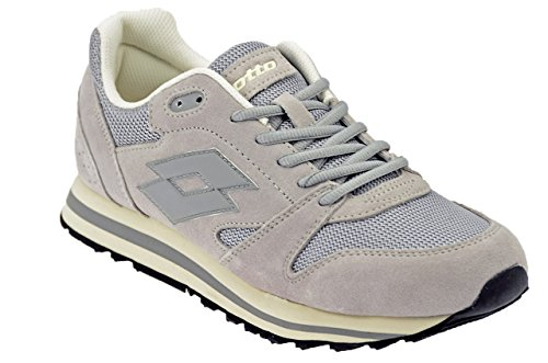 Lotto Men's Trainer Xi Net Fitness Shoes White (Pearl/Gry Opl 020) XKNKm